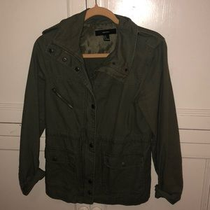Green army jacket